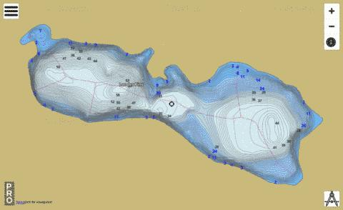 Lac Des Pins Fishing Map - i-Boating App