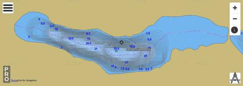 Lac Des Sommets Fishing Map - i-Boating App