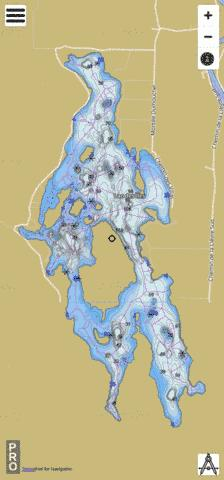 Lac Des Les Fishing Map - i-Boating App