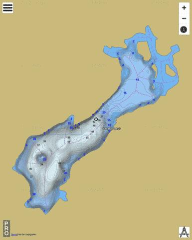 Lac Du Coeur Fishing Map - i-Boating App