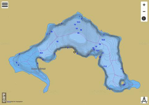 Lac En Croissant Fishing Map - i-Boating App