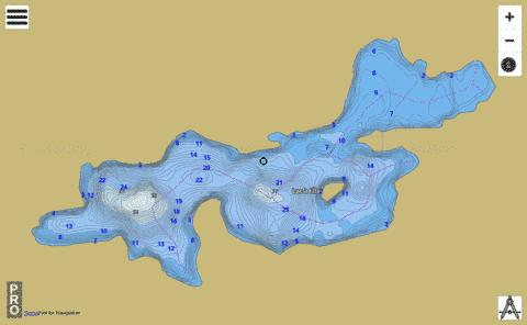 Lac L Le Fishing Map - i-Boating App
