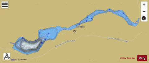 Lagon Lac Fishing Map - i-Boating App