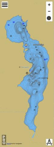 Lovering Lac Fishing Map - i-Boating App