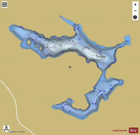 Marion Lac Fishing Map - i-Boating App