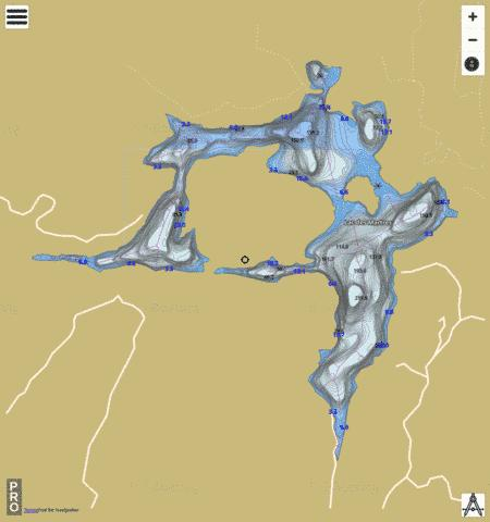 Lac Des Martres Fishing Map - i-Boating App