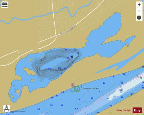McLaurin Baie Fishing Map - i-Boating App