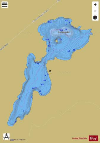 Montanier Lac Fishing Map - i-Boating App
