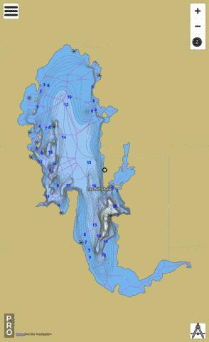 Nicabau Lac Fishing Map - i-Boating App