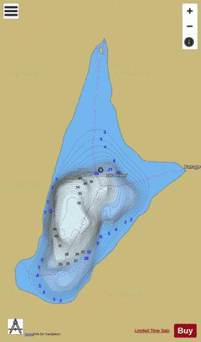Olivier Lac A Fishing Map - i-Boating App