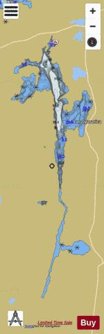 Opasatica Lac Fishing Map - i-Boating App