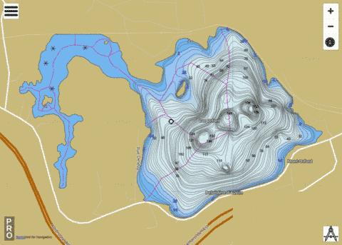 Orford Lac Fishing Map - i-Boating App