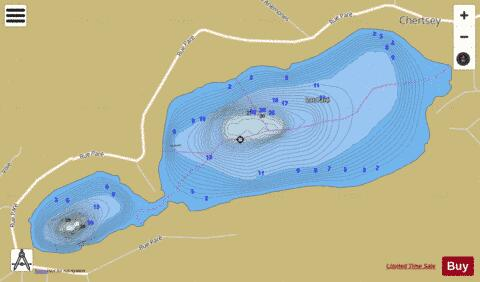 Pare Lac Fishing Map - i-Boating App