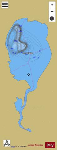 Pelletier Lac Fishing Map - i-Boating App