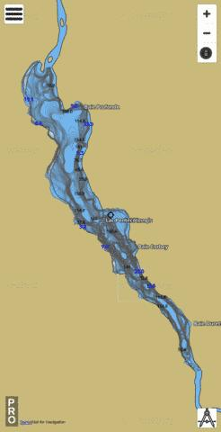 Pentecote Lac Fishing Map - i-Boating App