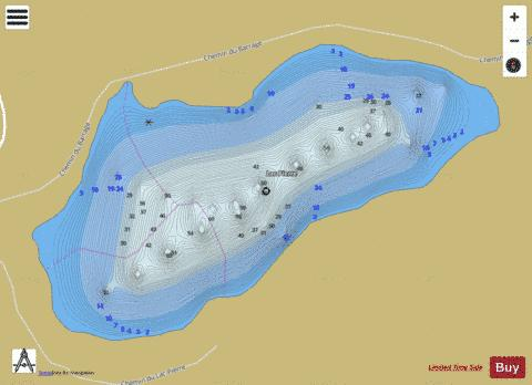 Pierre Lac Fishing Map - i-Boating App