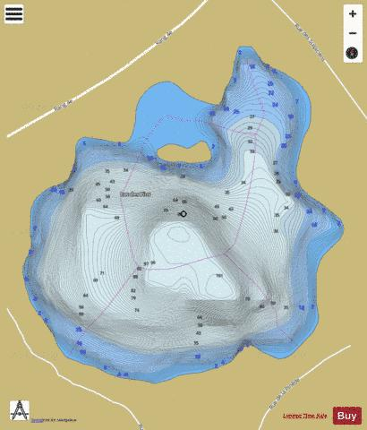 Pins Lac Des Fishing Map - i-Boating App