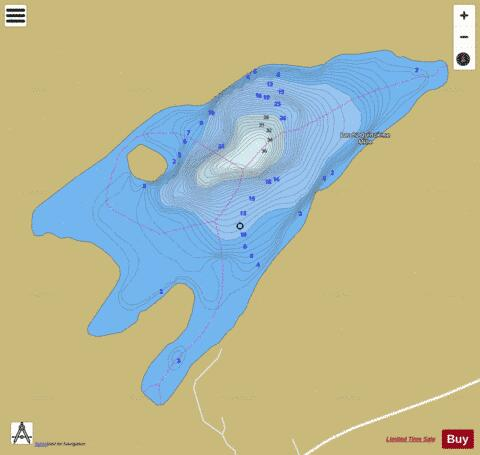 Quinzieme Mille Lac Du (156 Mille) Fishing Map - i-Boating App