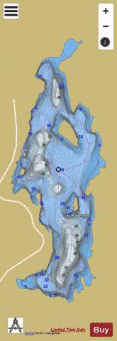 Roberge Lac Fishing Map - i-Boating App