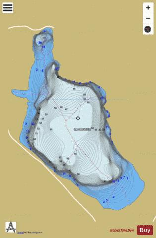 Sable Lac Au Fishing Map - i-Boating App