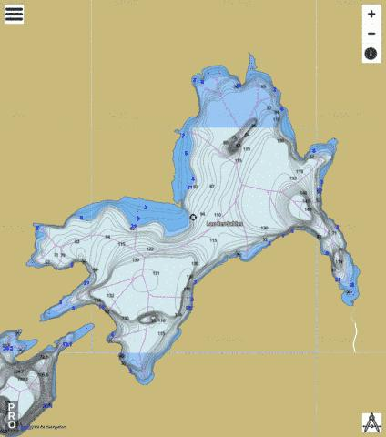Sables Lac Des Fishing Map - i-Boating App