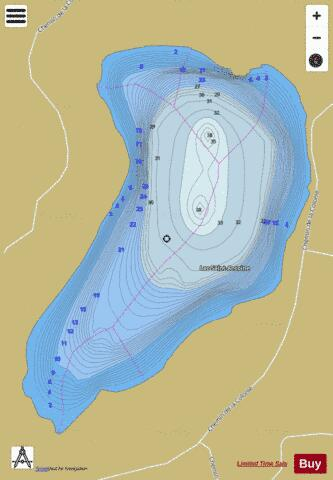 Saint Antoine Lac Fishing Map - i-Boating App