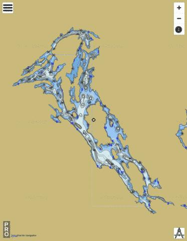 Saseginaga Lac Fishing Map - i-Boating App