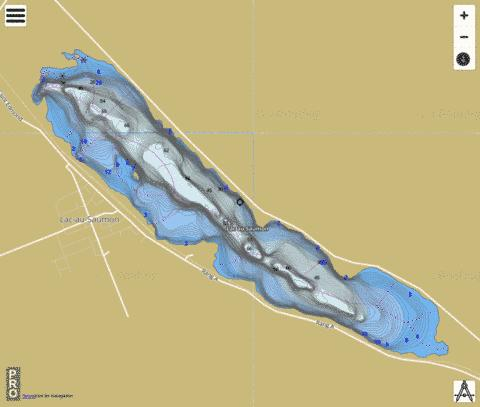 Saumon Lac Au Fishing Map - i-Boating App