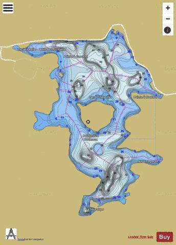 Sept Iles Lac Des Fishing Map - i-Boating App