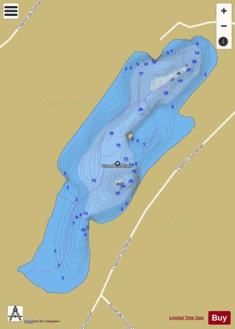Shaw Grand Lac Fishing Map - i-Boating App