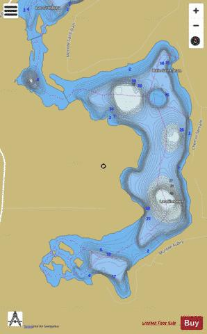 Simonet Lac Fishing Map - i-Boating App