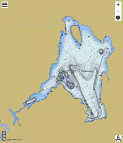 Sincennes Lac Fishing Map - i-Boating App