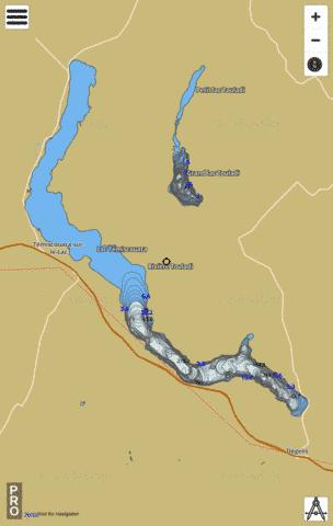 Temiscouata Lac Fishing Map - i-Boating App