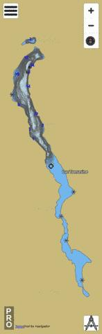 Tomasine Lac Fishing Map - i-Boating App