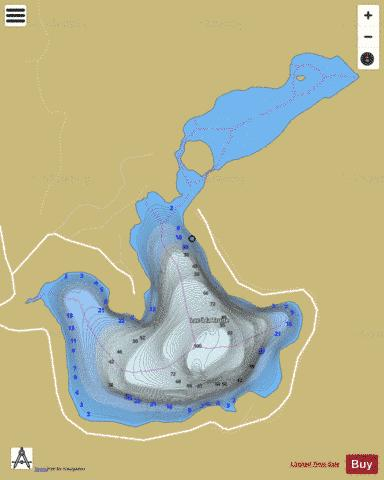 Lac Hazeur Fishing Map - i-Boating App
