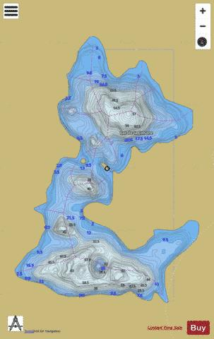 Cabane, Lac de la Fishing Map - i-Boating App