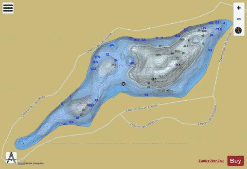 Louise, Lac Fishing Map - i-Boating App