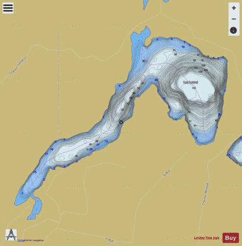Laurel, Lac Fishing Map - i-Boating App