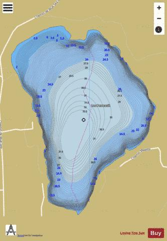 Perreault, Lac Fishing Map - i-Boating App