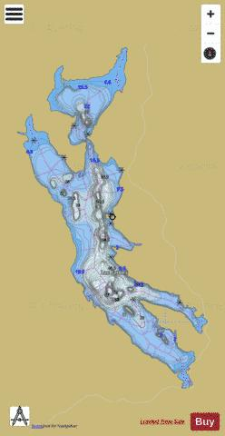 Forbes, Lac Fishing Map - i-Boating App