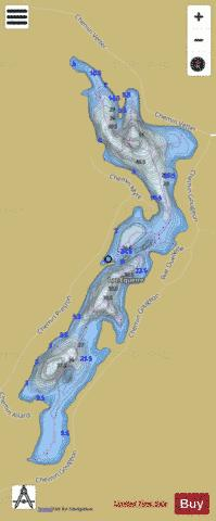 Equerre, Lac Fishing Map - i-Boating App