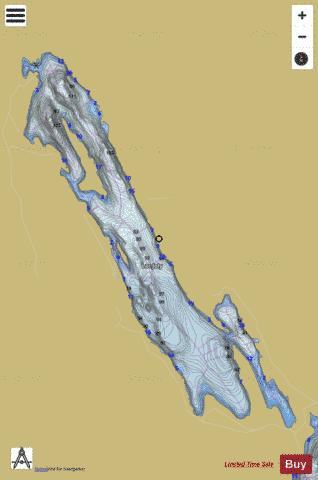 Joly, Lac Fishing Map - i-Boating App