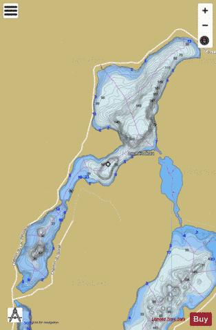 Perodeau, Lac Fishing Map - i-Boating App