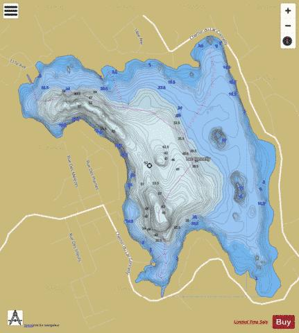 Connelly, Lac Fishing Map - i-Boating App