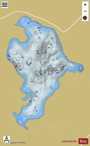 Montagne Noire, Lac de la Fishing Map - i-Boating App