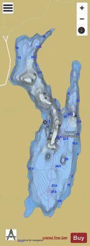 Montagnais, Lac aux Fishing Map - i-Boating App