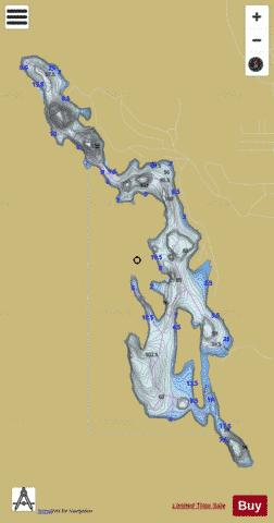Vert, Lac Fishing Map - i-Boating App