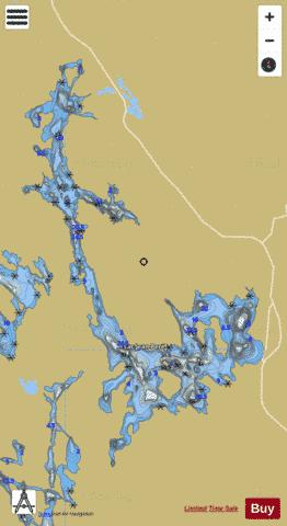 Jean-Pere, Lac Fishing Map - i-Boating App