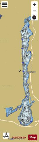 Joncas, Lac Fishing Map - i-Boating App