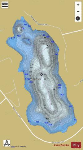 Plaisant, Lac Fishing Map - i-Boating App